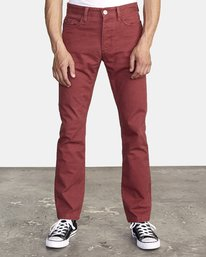 0 week-end 5-Pocket straight fit Pant Red M310VRWP RVCA