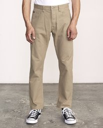 0 WeekEnd 5-Pocket straight fit Pant White M310VRWP RVCA