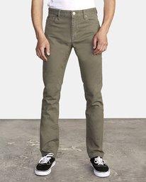 0 Daggers Slim-Straight Twill Pants Green M313VRDT RVCA