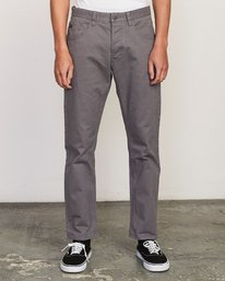 0 Daggers Slim-Straight Twill Pants Grey M313VRDT RVCA