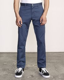 0 week-end Stretch straight fit Pant Blue M314VRWS RVCA