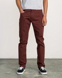 0 Daggers Slim-Straight Twill Pants Red M3301DAG RVCA
