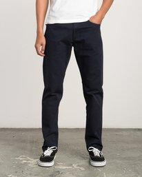 0 Daggers Slim-Straight Twill Pants Blue M3301DAG RVCA