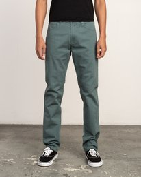 0 Daggers Slim-Straight Twill Pants Green M3301DAG RVCA