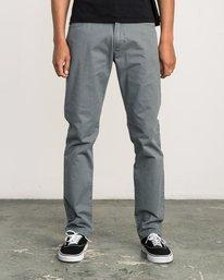 0 Daggers Slim-Straight Twill Pants Grey M3301DAG RVCA