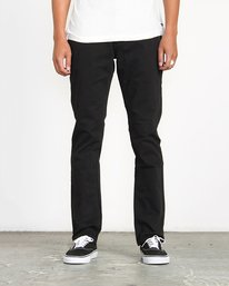 0 Stay RVCA Straight Fit Pants Black M3306SRP RVCA