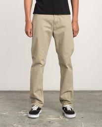 0 Stay RVCA Straight Fit Pants Beige M3306SRP RVCA