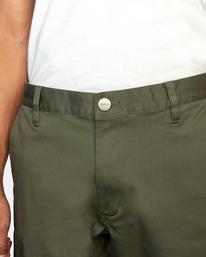 3 week-end Stretch straight fit Pant Green M3493RWS RVCA