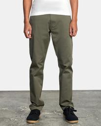 1 week-end Stretch straight fit Pant Green M3493RWS RVCA