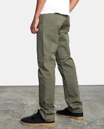 5 week-end Stretch straight fit Pant Green M3493RWS RVCA