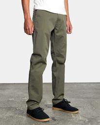 7 week-end Stretch straight fit Pant Green M3493RWS RVCA