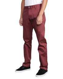 0 WeekEnd Stretch straight fit Pant Red M3493RWS RVCA