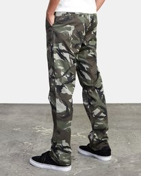 4 week-end Stretch straight fit Pant Beige M3493RWS RVCA