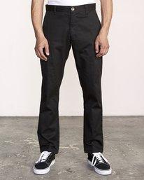 1 week-end Stretch straight fit Pant Black M3493RWS RVCA