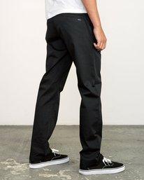 4 week-end Stretch straight fit Pant Black M3493RWS RVCA