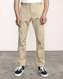 0 WeekEnd Stretch straight fit Pant Beige M3493RWS RVCA