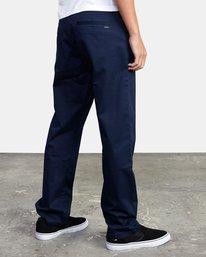5 week-end Stretch straight fit Pant Blue M3493RWS RVCA