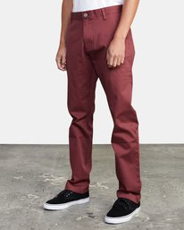 3 week-end Stretch straight fit Pant Red M3493RWS RVCA