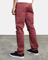4 week-end Stretch straight fit Pant Red M3493RWS RVCA