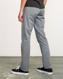 4 week-end Stretch straight fit Pant Grey M3493RWS RVCA