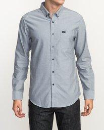 0 That'll Do Oxford Long Sleeve Shirt White M3515TDL RVCA