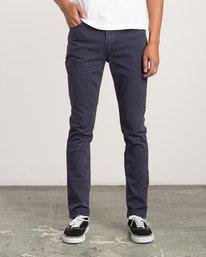 0 Daggers Pigment Slim-Straight Jeans Grey M351QRDP RVCA