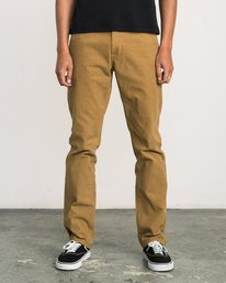 0 Daggers Pigment Corduroy Jeans Brown M352QRDC RVCA