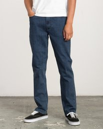 0 Stay RVCA Straight Fit Denim Jeans Blue M354QRSR RVCA