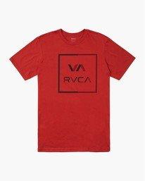 0 CIRCUIT SHORT SLEEVE T-SHIRT Red M4012RCI RVCA