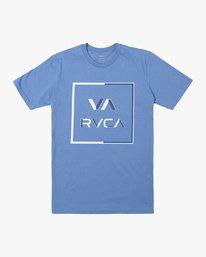 0 CIRCUIT SHORT SLEEVE T-SHIRT Blue M4012RCI RVCA