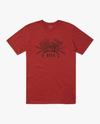 0 KRAB SHORT SLEEVE T-SHIRT Red M4012RKR RVCA