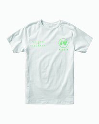 0 NAT CORP IND SHORT SLEEVE TEE White M4012RNA RVCA