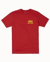 0 RVCA BAIL BONDS SHORT SLEEVE TEE Red M4013RBB RVCA