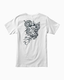 0 Dmote Serpentine T-Shirt White M401PRST RVCA