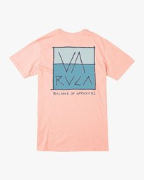 0 Split Scrawl T-Shirt Orange M401URSP RVCA