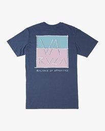 0 Split Scrawl T-Shirt Blue M401URSP RVCA