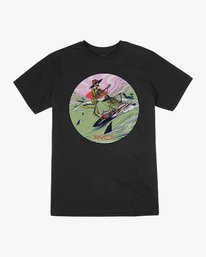 0 Jeff McMillan Surf Twins T-Shirt Black M401URSU RVCA