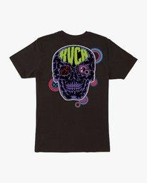 0 Dmote Electric Skull T-Shirt  M401VREL RVCA