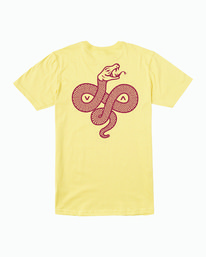 0 RVCA Serpent T-Shirt Yellow M401WRRS RVCA