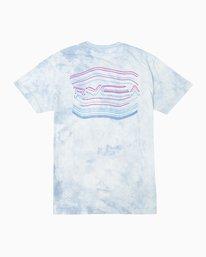 0 Neon Blur Washed T-Shirt Blue M409QRNE RVCA