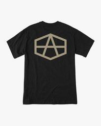 0 Andrew Reynolds Hex T-Shirt Black M410QRRE RVCA