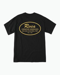 0 Creative Service T-Shirt Black M410SRCR RVCA