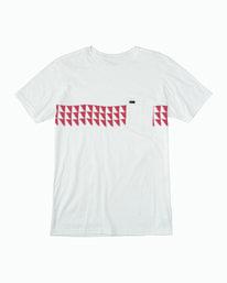 0 Cross Fade T-Shirt White M412WRCF RVCA