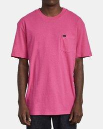 0 SOLO LABEL T-SHIRT Pink M414VRSO RVCA
