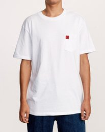0 Smith Street Wicks Pocket TEE White M414VRWI RVCA