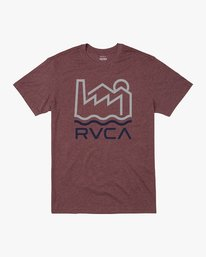 0 INDUSTRY LINE T-SHIRT Red M4201RIN RVCA