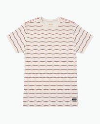 0 VA Stripe T-Shirt White M420PRVA RVCA