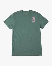 0 Francesco 4Heads T-Shirt Green M420QRHE RVCA
