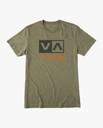 0 Flipped Box T-Shirt Brown M420URPB RVCA