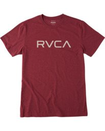 0 BIG RVCA SHORT SLEEVE TEE Red M420VRBI RVCA